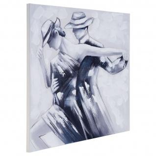 Ölgemälde Tanzpaar, 100% handgemaltes Wandbild Gemälde XL, 80x80cm - Vorschau 3