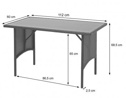 Poly-Rattan Garnitur HWC-G16, Balkonset Gartensitzgruppe, Gastronomie 2xBank Tisch 2xHocker - Vorschau 5