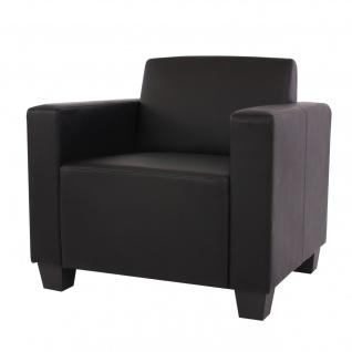 Sessel Loungesessel Lyon, Kunstleder schwarz