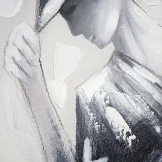 Ölgemälde Tanzpaar, 100% handgemaltes Wandbild Gemälde XL, 80x80cm - Vorschau 5