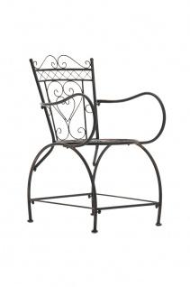 Gartenstuhl CP333, Bistrostuhl Stuhl, Metall ~ bronze