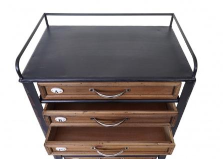 Apotheker-Schrank HWC-A43, Tanne Holz massiv Vintage Shabby-Look 129x55x38cm - Vorschau 5