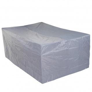 Abdeckplane Abdeckhaube Schutzplane Schutzhülle für Garnituren, grau ~ 75x255x120cm