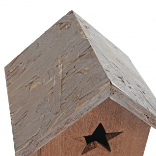 2er Set Dekohaus Kamnik, Vogelhäuschen Vogelhaus, Shabby-Look Vintage 23x14x12cm Holz - Vorschau 5