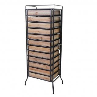 Apotheker-Schrank HWC-A43, Tanne Holz massiv Vintage Shabby-Look 129x55x38cm - Vorschau 4