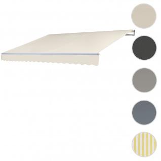 Bezug für Markise T792, Gelenkarmmarkise Ersatzbezug Sonnenschutz, 5x3m ~ Polyester creme