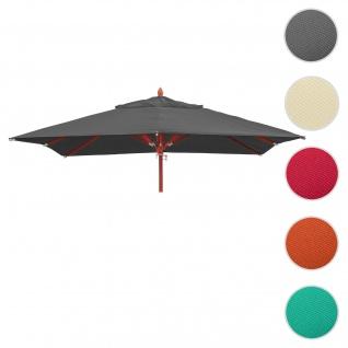 Bezug für Gastronomie Holz-Sonnenschirm HWC-C57, Sonnenschirmbezug Ersatzbezug, eckig 4x4m Polyester 3kg ~ anthrazit