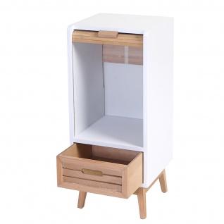 Kommode Larvik, Rollladen- Schubladenschrank, Retro-Design 71x30x30cm 1 Schublade - Vorschau 2