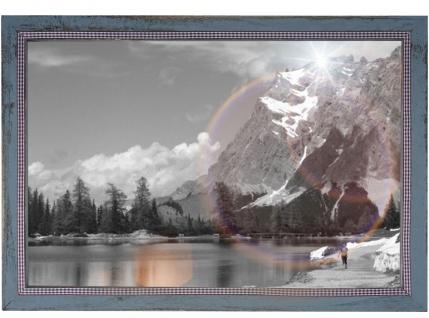 Bilderrahmen T249, Fotorahmen Holzrahmen Wand-Rahmen, 26x36cm Shabby-Look Landhaus ~ grau - Vorschau 2