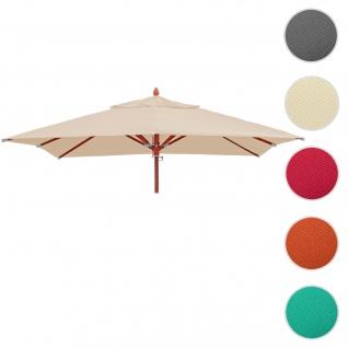 Bezug für Gastronomie Holz-Sonnenschirm HWC-C57, Sonnenschirmbezug Ersatzbezug, eckig 4x4m Polyester 3kg ~ creme