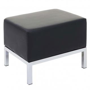 Ottomane HWC-C19, Modular-Sofa, erweiterbar Kunstleder ~ schwarz