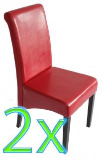 2x Esszimmerstuhl Küchenstuhl Stuhl M03 rot