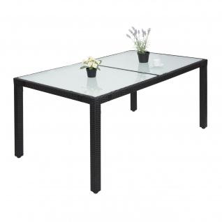 Poly-Rattan Esstisch HWC-F49, Esszimmertisch Gartentisch Tisch, 150x90cm anthrazit