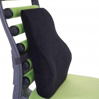 Rückenkissen HWC-C99, Stützkissen Lendenkissen Rückenstütze Lordosenstütze, Memory Schaum Samt schwarz