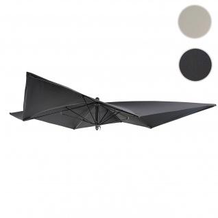 Bezug für Luxus-Sonnenschirm HWC-A37, Sonnenschirmbezug Ersatzbezug, 3x3m (Ø4, 24m) Polyester ~ anthrazit