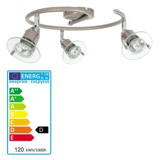 Leuchten-Direkt ECO Deckenleuchte schwenkbar stahl Schirm Glas incl. Halogen- LM