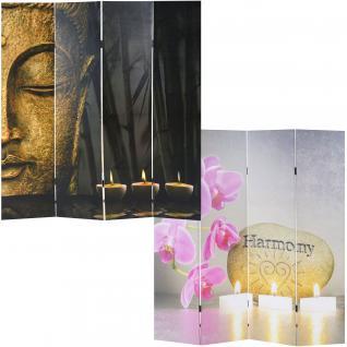 Foto-Paravent Buddha, Paravent Raumteiler Trennwand ~ 180x200 cm
