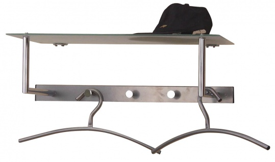 Wandgarderobe H66, Garderobe Kleiderhaken, 15x60x31cm