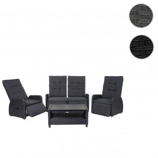 Garnitur HWC-J35, Lounge-Set Sitzgruppe Sofa, Spun Poly halbrundes Poly-Rattan ~ anthrazit, Kissen anthrazit - Vorschau 1