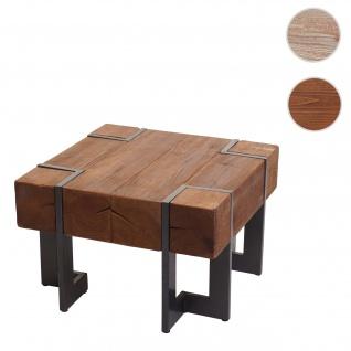 Couchtisch HWC-A15, Wohnzimmertisch, Tanne Holz rustikal massiv ~ braun 60x60cm