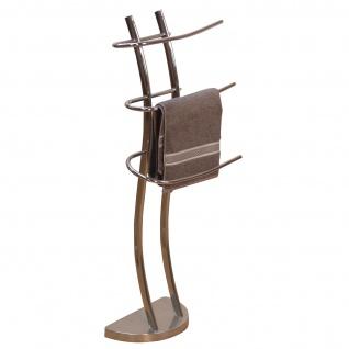 Handtuchhalter H95, Handtuchständer Handtuchstange, 101x41x29cm ~ Chrom-Optik