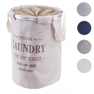 Wäschesammler HWC-C34, Laundry Wäschekorb Wäschesack Wäschebehälter mit Kordelzug, Henkel 55x39cm 65l ~ beige