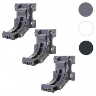 3x Wandhalterung für Markise T124, Wandkonsole Wandmontage Adapter ~ grau