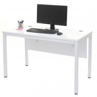 Schreibtisch HWC-E94, Bürotisch Computertisch weiß 76x120x60cm