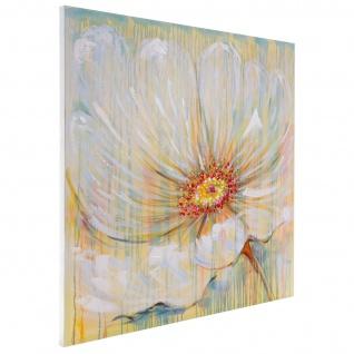 Ölgemälde Weiße Blume, 100% handgemalt, 100x100cm - Vorschau 4