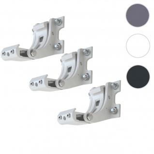 3x Wandhalterung für Markise T124, Wandkonsole Wandmontage Adapter ~ weiß