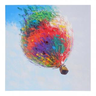 Ölgemälde Heißluftballon, 100% handgemaltes Wandbild Gemälde XL, 100x100cm