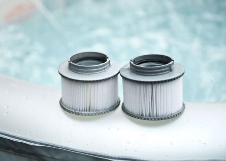 2x Wasserfilter für Whirlpool MSpa HWC-A62, Ersatzfilter Filterkartusche, Zubehör - Vorschau 2