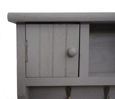 Schlüsselbrett HWC-A48, Schlüsselkasten Schlüsselboard mit Türen, Massiv-Holz ~ grau - Vorschau 5