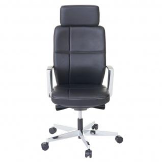 Bürostuhl MERRYFAIR Luton, Schreibtischstuhl, Sliding-Funktion Leder ISO9001 130kg belastbar - Vorschau 4