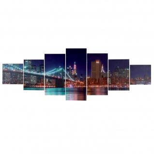 Leinwandbild T375 XL, Kunstdruck, 7-teilig 245x87cm ~ New York