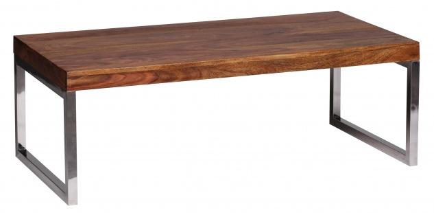 Couchtisch Malatya, Wohnzimmertisch, Sheesham Massivholz, 120x60x40cm - Vorschau 1
