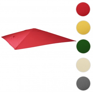 Bezug für Luxus-Ampelschirm HWC-A96, Sonnenschirmbezug Ersatzbezug, 3x4m (Ø5m) Polyester 3, 5kg ~ rot