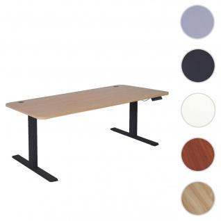 Schreibtisch HWC-D40, Computertisch, elektrisch höhenverstellbar 160x80cm 53kg ~ hellbraun, schwarz