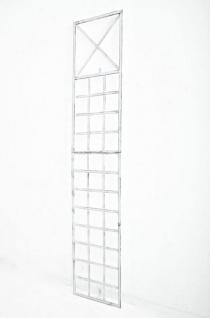 Wandrankhilfe CP370, Rankhilfe Rankgitter, Eisen ~ 198cm, antik-weiß