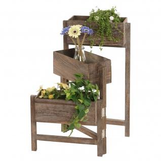 Pflanzregal, Blumenständer, Höhe: 65cm Shabby-Look braun