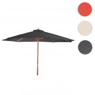 Sonnenschirm Florida, Gartenschirm Marktschirm, Ø 3, 5m Polyester/Holz 7kg ~ anthrazit