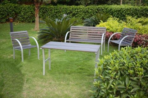 Gartensessel Gartenstuhl Granada, Holz+Metall grau