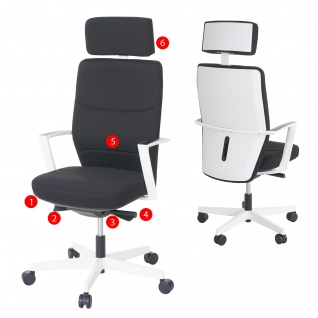 Bürostuhl MERRYFAIR Luton, Schreibtischstuhl, Sliding-Funktion Textil ISO9001 130kg belastbar - Vorschau 1