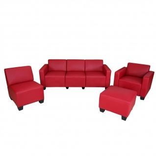 Modular Sofa-System Garnitur Lyon 3-1-1-1 rot - Vorschau 1