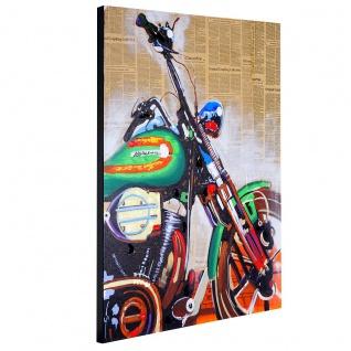 Ölgemälde Motorrad, 100% handgemaltes Wandbild Gemälde XL, 100x80cm - Vorschau 3