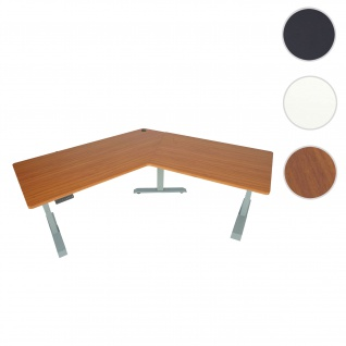 Schreibtisch HWC-D40, Computertisch, 120° elektrisch höhenverstellbar ~ natur, grau