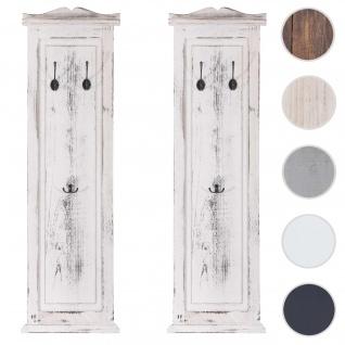 2x Garderobe Wandgarderobe Garderobenpaneel Wandhaken 109x28x4cm ~ weiß shabby