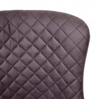 2x Barhocker HWC-H79, Barstuhl Tresenhocker, Vintage Metall Fußablage ~ Stoff/Textil dunkelgrau - Vorschau 5