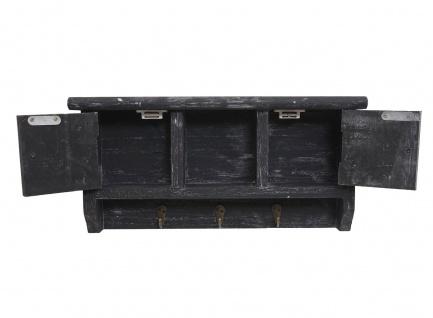 Schlüsselbrett HWC-A48, Schlüsselkasten Schlüsselboard mit Türen, Massiv-Holz ~ shabby grau - Vorschau 4