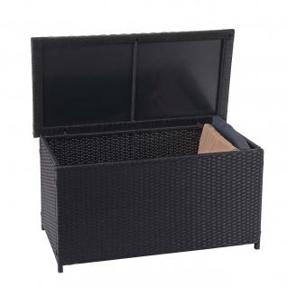Poly-Rattan Kissenbox HWC-D88, Gartentruhe Auflagenbox Truhe - Vorschau 2
